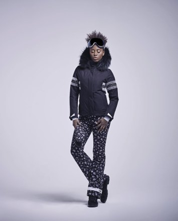 Anita ski jacket - LIA pants leopard black white