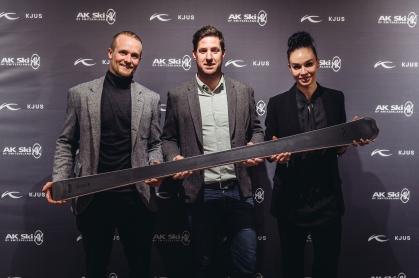Marco Kuonen, Nico Serena, Sohn von KJUS-Gründer Didi Serena und Francesca Kuonen
